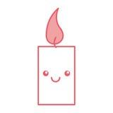 Χαρακτήρας kawaii αρώματος therapy candle spa ελεύθερη απεικόνιση δικαιώματος