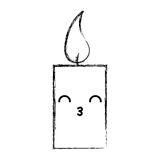 Χαρακτήρας kawaii αρώματος therapy candle spa απεικόνιση αποθεμάτων