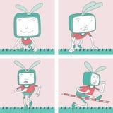 Χαρακτήρας TV Toon - σύνολο 10 Στοκ Εικόνες