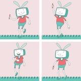 Χαρακτήρας TV Toon - σύνολο 12 Στοκ εικόνα με δικαίωμα ελεύθερης χρήσης
