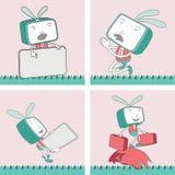 Χαρακτήρας TV Toon - σύνολο 14 Στοκ φωτογραφία με δικαίωμα ελεύθερης χρήσης