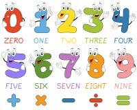 Χαρακτήρες αριθμών κινούμενων σχεδίων Στοκ Εικόνες