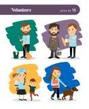 Χαρακτήρες εθελοντών απεικόνιση αποθεμάτων