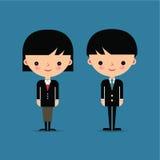 Χαρακτήρες επιχειρησιακών ανδρών και γυναικών ελεύθερη απεικόνιση δικαιώματος
