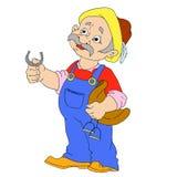 Χαρακτήρες κινουμένων σχεδίων νεόνυμφων Άτομο της Farmer Στοκ Εικόνα