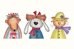 χαρακτήρες κινουμένων σχ&e Στοκ φωτογραφία με δικαίωμα ελεύθερης χρήσης