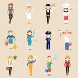 Χαρακτήρες κοριτσιών στον επαγγελματικό ιματισμό Στοκ φωτογραφία με δικαίωμα ελεύθερης χρήσης