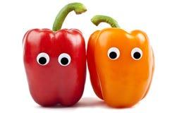 Χαρακτήρες πιπεριών κουδουνιών στοκ εικόνα