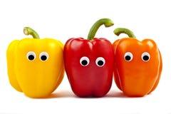 Χαρακτήρες πιπεριών κουδουνιών στοκ φωτογραφία με δικαίωμα ελεύθερης χρήσης