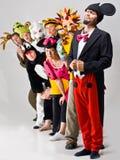 χαρακτήρες που ντύνονται με κοστούμι Στοκ Εικόνα