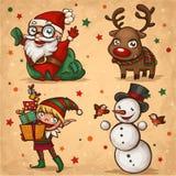 Χαρακτήρες Χριστουγέννων απεικόνιση αποθεμάτων