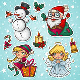 Χαρακτήρες Χριστουγέννων διανυσματική απεικόνιση