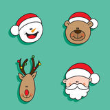 Χαρακτήρες Χριστουγέννων Στοκ φωτογραφίες με δικαίωμα ελεύθερης χρήσης