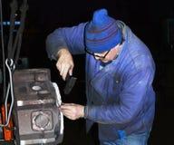 Χαρακτηρίζοντας την κάλυψη της μηχανής diesel για τη μεταχείρηση turther txperimental μηχανήματα kandalaksha plfnt έτος του 2015 Στοκ εικόνα με δικαίωμα ελεύθερης χρήσης