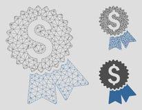 Χαρακτηρισμένα πρότυπο πλέγματος τιμών διανυσματικά 2$α και εικονίδιο μωσαϊκών τριγώνων διανυσματική απεικόνιση