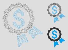 Χαρακτηρισμένα πρότυπο πλαισίων καλωδίων πλέγματος ετικετών τιμών διανυσματικά και εικονίδιο μωσαϊκών τριγώνων ελεύθερη απεικόνιση δικαιώματος