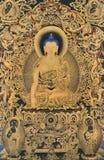 Χαρακτηρισμένη παραδοσιακή ζωγραφική του Θιβέτ Στοκ εικόνα με δικαίωμα ελεύθερης χρήσης