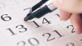 """Χαρακτηρισμένος τον Φεβρουάριος, του ημερομηνία 14 στις ημερολογιακές μετατροπές στο κείμενο ΗΜΈΡΑΣ ΒΑΛΕΝΤΙΝΩΝ """"S απόθεμα βίντεο"""