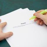 Χαρακτηρισμός των λέξεων σε έναν καθορισμό προτερημάτων στοκ εικόνα με δικαίωμα ελεύθερης χρήσης