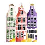 Χαρακτηριστικά ολλανδικά σπίτια Στοκ εικόνες με δικαίωμα ελεύθερης χρήσης