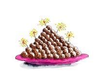 Χαρακτηριστικά ολλανδικά πρόχειρα φαγητά νέος-έτους κύπελλων Στοκ εικόνα με δικαίωμα ελεύθερης χρήσης