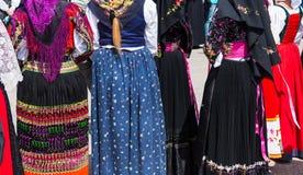 Χαρακτηριστικά σαρδηνιακά κοστούμια Στοκ φωτογραφίες με δικαίωμα ελεύθερης χρήσης