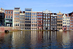 Χαρακτηριστικά σπίτια καναλιών Στοκ Εικόνες