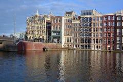 Χαρακτηριστικά σπίτια καναλιών Στοκ εικόνα με δικαίωμα ελεύθερης χρήσης
