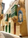 Χαρακτηριστικά σπίτια της Μάλτας Στοκ φωτογραφίες με δικαίωμα ελεύθερης χρήσης