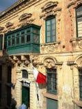 Χαρακτηριστικά σπίτια της Μάλτας Στοκ φωτογραφία με δικαίωμα ελεύθερης χρήσης