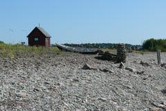 Χαρακτηριστικά σπίτια των ψαράδων στοκ φωτογραφία