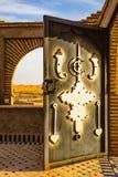 Χαρακτηριστικά στοιχεία της μαροκινής αρχιτεκτονικής Στοκ Εικόνες