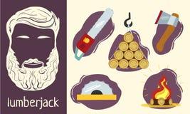 Χαρακτηριστικά του υλοτόμου Στοκ εικόνες με δικαίωμα ελεύθερης χρήσης