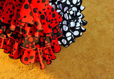 Χαρακτηριστικά φορέματα, δίκαια στη Σεβίλη, Ανδαλουσία, Ισπανία στοκ φωτογραφίες με δικαίωμα ελεύθερης χρήσης