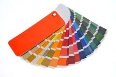 χαρακτηριστικά χρώματος εικόνας δείγματα εκτύπωσης Τύπου βιομηχανίας προ Στοκ Εικόνα