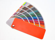 χαρακτηριστικά χρώματος εικόνας δείγματα εκτύπωσης Τύπου βιομηχανίας προ Στοκ φωτογραφίες με δικαίωμα ελεύθερης χρήσης
