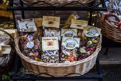 Χαρακτηριστικά Tuscan ζυμαρικά στην Ιταλία στοκ εικόνα με δικαίωμα ελεύθερης χρήσης