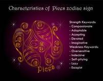 Χαρακτηριστικά zodiac Pices του σημαδιού Στοκ φωτογραφίες με δικαίωμα ελεύθερης χρήσης