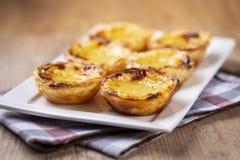 Χαρακτηριστικές πορτογαλικές πίτες κρέμας, κρητιδογραφία de Βηθλεέμ ` ` Pastel de Nata ` ή ` στοκ φωτογραφίες με δικαίωμα ελεύθερης χρήσης