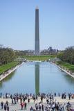 Χαρακτηριστική άποψη στην Ουάσιγκτον - η απεικόνιση συγκεντρώστε και μνημείο - ΟΥΑΣΙΓΚΤΟΝ, ΠΕΡΙΟΧΉ ΤΗΣ ΚΟΛΟΎΜΠΙΑ - 8 Απριλίου 201 Στοκ εικόνες με δικαίωμα ελεύθερης χρήσης