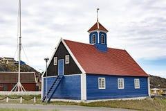 Χαρακτηριστική αρχαία Greenlandic εκκλησία στοκ εικόνες με δικαίωμα ελεύθερης χρήσης