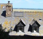 Χαρακτηριστική αρχιτεκτονική από Mont Saint-Michel στοκ φωτογραφία με δικαίωμα ελεύθερης χρήσης