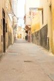 Χαρακτηριστική αλέα σε μια μαροκινή πόλη Στοκ Εικόνα