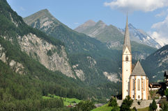 Χαρακτηριστική αλπική εκκλησία της Αυστρίας Στοκ Εικόνες