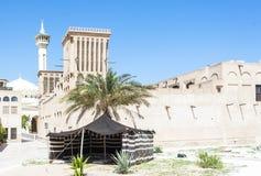 Χαρακτηριστική βεδουίνη σκηνή και χαρακτηριστικά κτήρια arabe Στοκ Φωτογραφίες