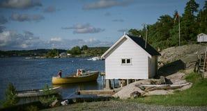 Χαρακτηριστική νορβηγική άποψη Στοκ Εικόνα