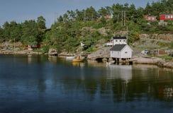 Χαρακτηριστική νορβηγική άποψη Στοκ Φωτογραφία