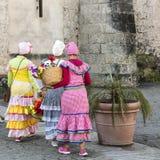 Χαρακτηριστική οδός entertaineres στον τρόπο να εργαστεί, Αβάνα, Κούβα Στοκ φωτογραφίες με δικαίωμα ελεύθερης χρήσης