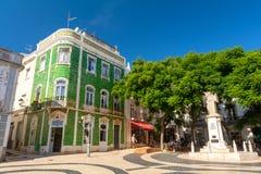 Χαρακτηριστική πορτογαλική αρχιτεκτονική στην παλαιά πόλη στο Λάγκος, Αλγκάρβε, Πορτογαλία Στοκ Εικόνα