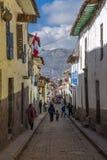 Χαρακτηριστική πόλη Περού Cuzco οδών Στοκ φωτογραφία με δικαίωμα ελεύθερης χρήσης